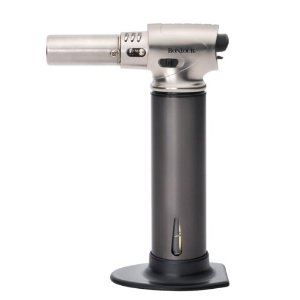 BonJour Creme Brulee Pro Culinary Torch with Fuel Gauge